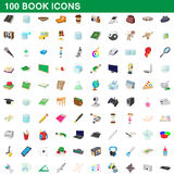 100 book icons set, cartoon style. 100 book icons set in cartoon style for any design vector illustration Stock Illustration