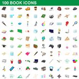 100 book icons set, cartoon style. 100 book icons set in cartoon style for any design illustration royalty free illustration