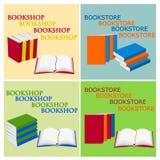 Book icons set Stock Photos