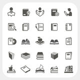 Book icons set Stock Photography