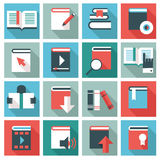 Book icons set Royalty Free Stock Images