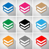 Book  icons set great for any use. Vector EPS10. Stock Image