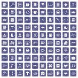 100 book icons set grunge sapphire. 100 book icons set in grunge style sapphire color isolated on white background vector illustration royalty free illustration