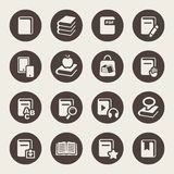 Book icons set illustration Stock Photos