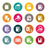Book icons set illustration Royalty Free Stock Photography