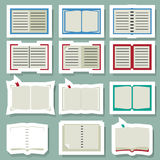 Book icons set. Illustration of book icons set Vector Illustration