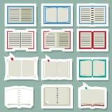 Book icons set Stock Photo