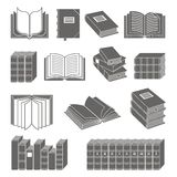 Book icons set Stock Image