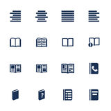 Book icons. Set of icons for book, list and information in flat style Royalty Free Stock Photography