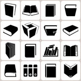 Book Icons Set Stock Photo
