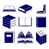 Book icons set  vector Royalty Free Stock Photo