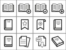 Book icons set. Book vector icons set. White illustration isolated for graphic and web design Stock Images