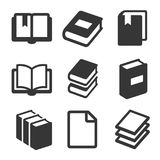 Book Icons Set on White Background. Vector Royalty Free Stock Photos