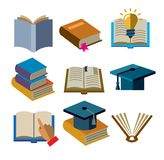Book icons Stock Images
