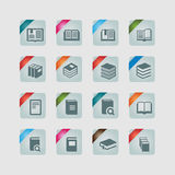 Book icons Royalty Free Stock Images