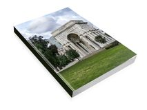 Book illustration of the triumphal arch at Genova. In the square of victory Royalty Free Stock Photos