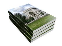 Book illustration of the triumphal arch at Genova Stock Image
