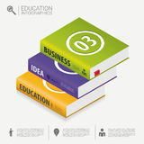 Book infographic Template. Business success concept. Vector Royalty Free Stock Image