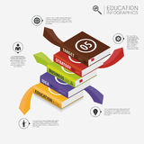 Book infographic Template. Business success concept. Vector Stock Photography