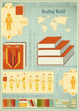 Book Infographics Elements Stock Image
