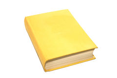 Book isolated. Yellow antique book isolated on white Stock Photo