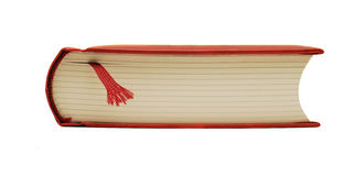 Book isolated. Profile of a thick book isolated on white Stock Photography