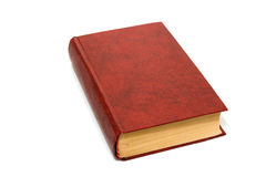 Book isolated. Red book isolated on white Royalty Free Stock Photo