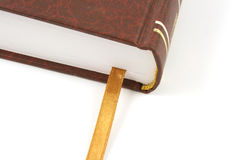 Book isolated with golden bookmark Stock Image