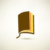 Book isolated symbol Royalty Free Stock Photo