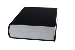 Book isolatedon White Background Royalty Free Stock Photography