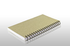 Book isolation. ฺBlank Front page book isolation with reflection Royalty Free Stock Photography