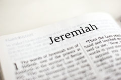 Book of Jeremiah. One of the 66 books in the Bible Stock Photography