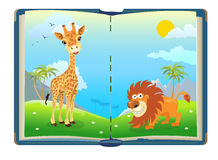 Book about jungle animals Royalty Free Stock Photos