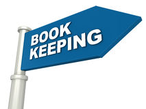 Book keeping. Or accounting concept, business accountancy, accounts filing Stock Photos