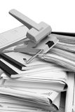 Book-keeping Documents And Puncher Stock Photos