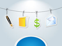 Book keeping - finance card Stock Photography