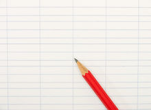 Book-keeping paper with pencil - background Royalty Free Stock Images