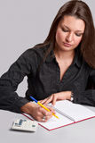 Book keeping woman Stock Photos