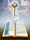 Book and key stock illustration