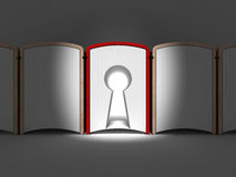 Book with Key Hole. As passage Stock Photos