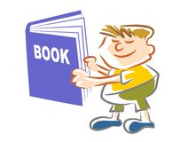 Book kid - illustration Stock Photography