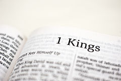 Book of 1 Kings Stock Photography