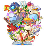 Book of Knowledge for Art and Craft Hobby. Vector illustration of Book of Knowledge for Art and Craft Hobby stock illustration