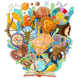 Book of Knowledge for Astrology Royalty Free Stock Images