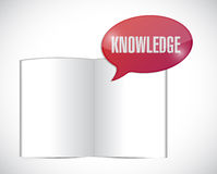 Book knowledge message illustration design Stock Photo
