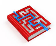Book labyrinth concept Stock Photography
