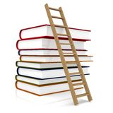 Book and ladder Royalty Free Stock Photography