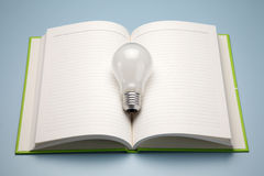 A book and lamp Stock Image