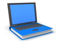 Book laptop Royalty Free Stock Photography