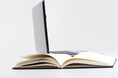 Book and laptop. For future Royalty Free Stock Image